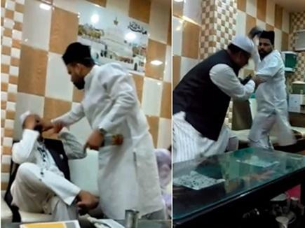VIDEO: अजमेर शरीफ में खादिमों की बैठक में चले लात-घूंसे, फेंकी स्याही