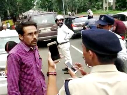 VIDEO : गाड़ी रोकने पर शख्स ने खुद को बताया CM का जीजा, शिवराज बोले- मैं बहुतों का साला