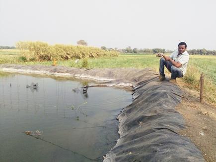किसान ने खेत पर बनाया तालाब, मोती कर रहा है पैदा