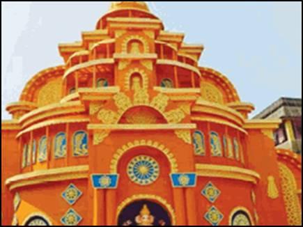 45 feet big pandal making in Bangali club for Durga Pooja