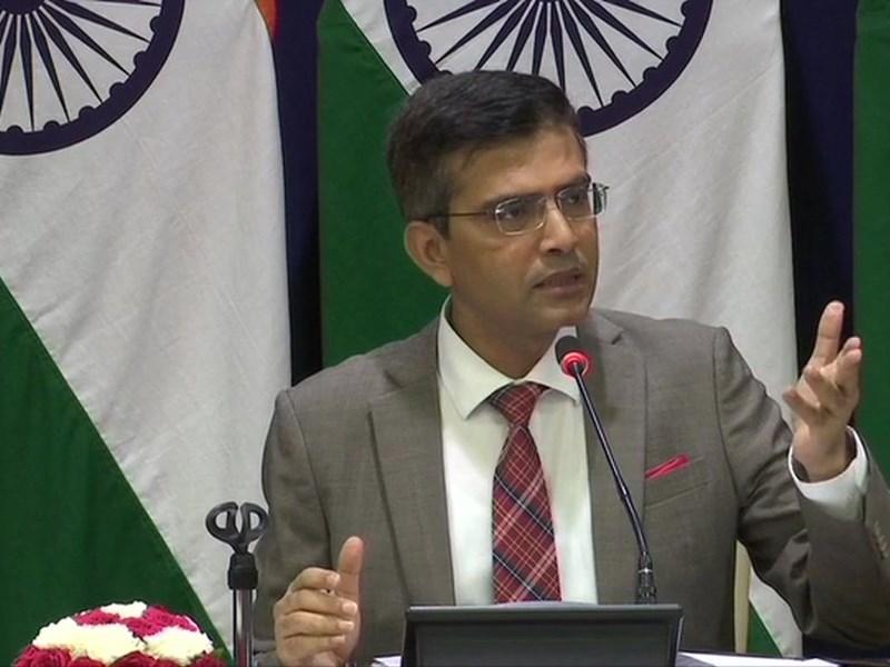 पाकिस्तान के नेताओं की बयानबाजी भारत के आंतरिक मामलो में दखल - विदेश मंत्रालय