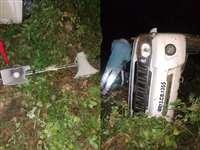 देवास के करीब कैलाश विजयवर्गीय के काफिले का वाहन पलटा, तीन पुलिसकर्मी घायल