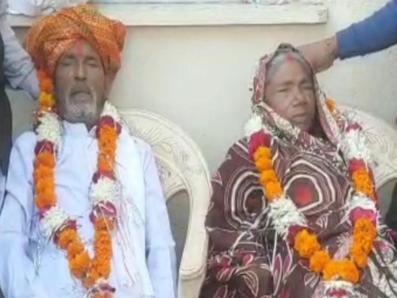 मुरैना जिले में बुजुर्ग दंपती ने एक साथ तोड़ा दम, एक ही चिता पर हुआ अंतिम संस्कार