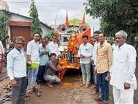 भारतीय किसान संघ ने निकाली कलश यात्रा