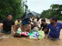 Shivpuri Rain Update: शिवपुरी में बारिश का कहर, बैराड़ के चार गांव हुए जलमग्न, हेलीकॉप्टर से रेसक्यू आपरेशन