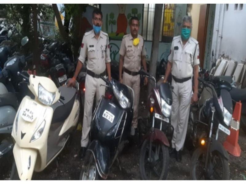 Bhopal Crime News: राजधानी में दो पहिया वाहन चोर गिरफ्तार, चार चोरी के वाहन बरामद