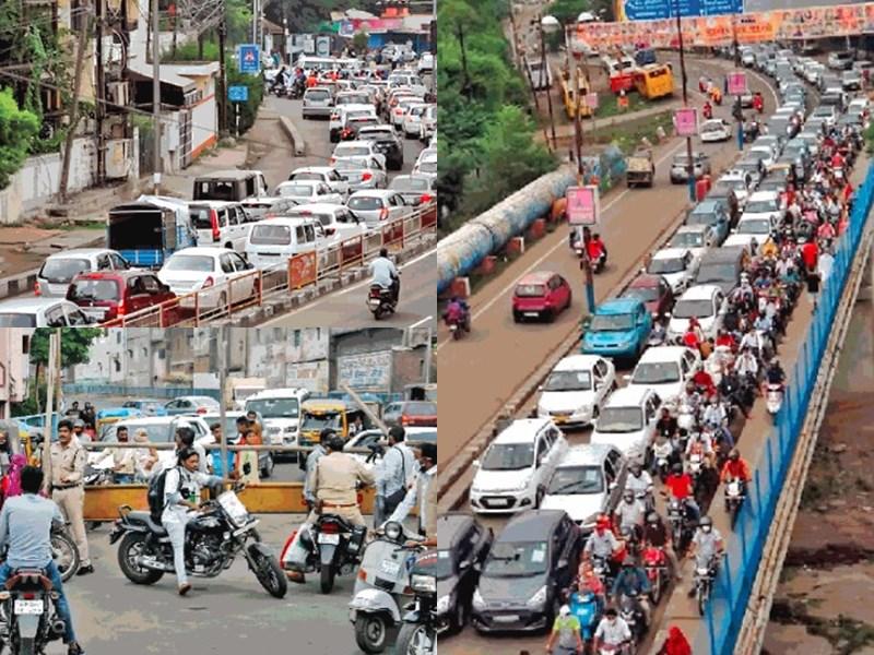 Total Lockdown in Bhopal : भोपाल में ये कैसा टोटल लॉकडाउन, लग गया ट्रैफिक जाम