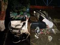 Bhopal Accident News: तेज रफ्तार कार ने मारी टक्कर, स्कूटर के परखच्चे उड़े, एक घायल