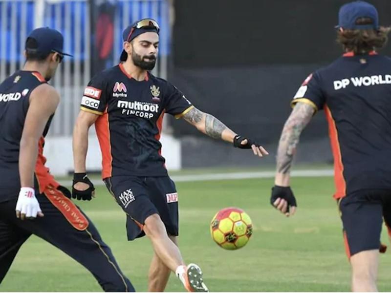 IPL 2020: RCB टीम के प्रैक्टिस सेशन के बाद Virat Kohli ने लिया Ice Bath