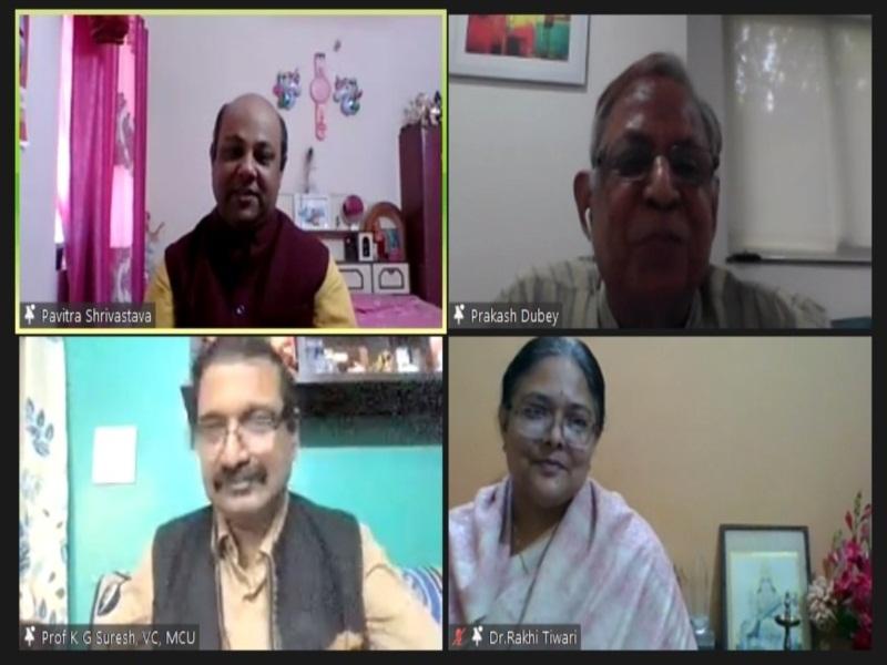 Bhopal News : समाज को सोचने पर मजबूर करना भी मीडिया का काम : प्रो. केजी सुरेश