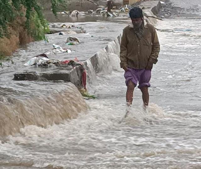 खंडवा में निसर्ग चक्रवात से तेज बारिश