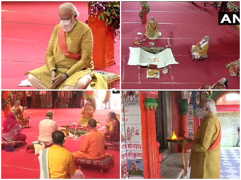 LIVE Ram Mandir Bhoomi Pujan : अभिजीत मुहूर्त में रखी गईं शिलाएं, जहां थी रामलला की मूर्ति, वहीं हुआ भूमि पूजन