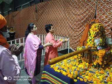 कोरोना के चलते गुलाब बाबा मंदिर परिसर में ही निकलेगी चरण पादुका शोभायात्रा