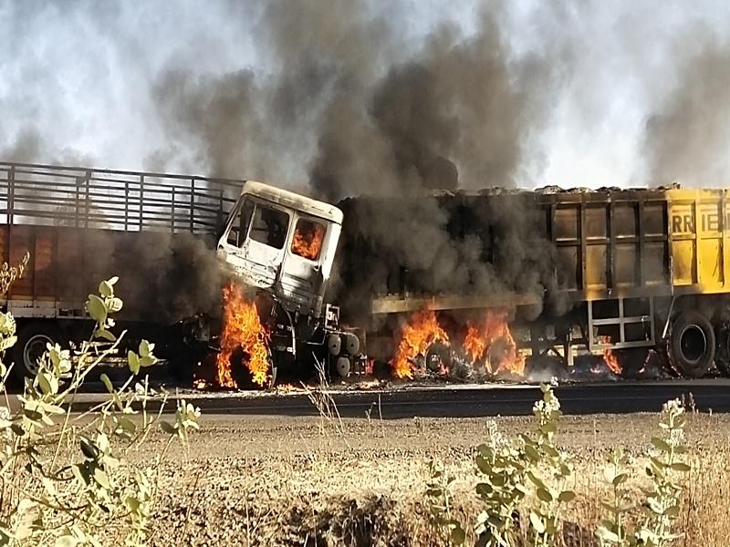 Dhar News: गणपति घाट पर हादसा, मिनी ट्रक व ट्राले की टक्कर के बाद लगी आग, चालक जिंदा जला