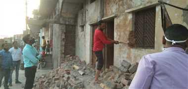 बेगमबाग में दो मकान तोड़े, बाकि से सात दिन में खुद हटाने को कहा