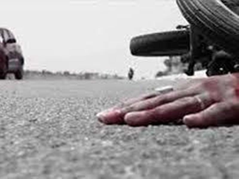 दुर्घटना में एक व्यक्ति की मौत