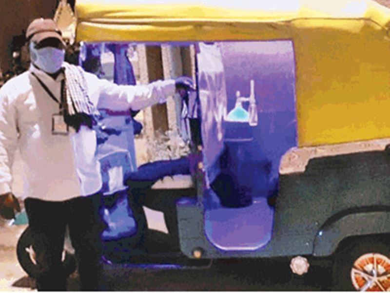 इंदौर में आटो बना एंबुलेंस... मरीजों को दे रहे सुविधाओं की 'आक्सीजन'