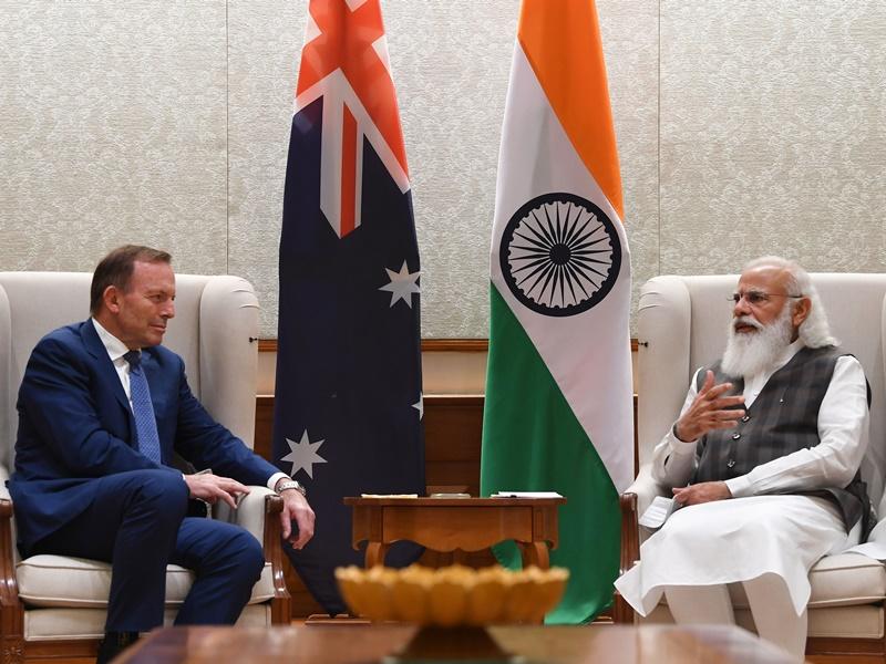 पीएम मोदी और पूर्व ऑस्ट्रेलियाई PM टोनी एबॉट की बैठक, कई द्विपक्षीय मुद्दों पर बनी सहमति