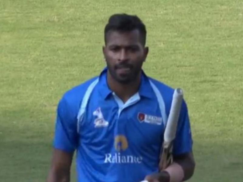 Hardik Pandya का कमाल, 55 गेंदों में 20 छक्कों की मदद से बनाए 158 रन, देखें Video
