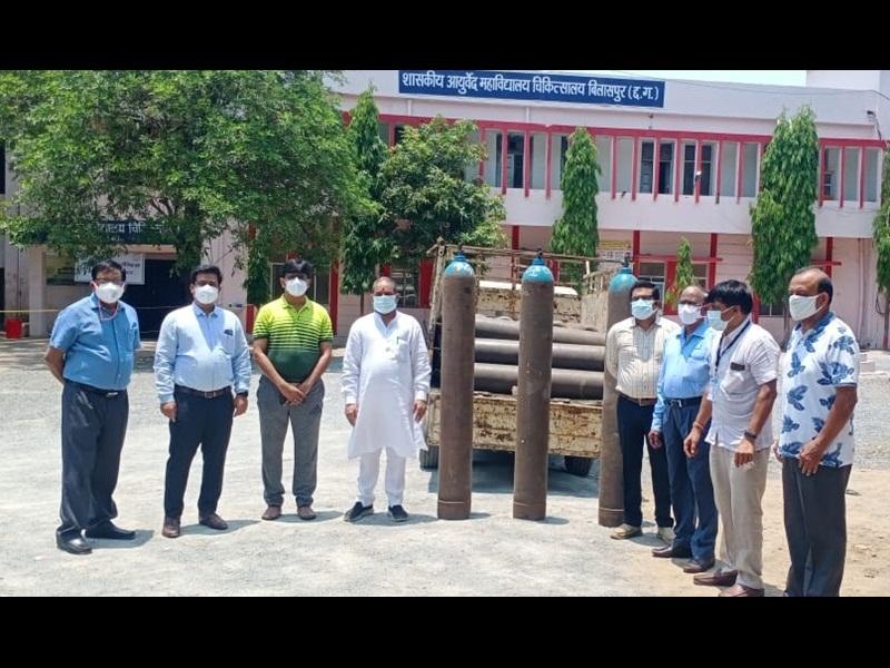 Corona News In Bilaspur: बिलासपुर के आयुर्वेदिक अस्पताल में 40 बिस्तर का कोविड वार्ड तैयार, महापौर ने किया निरीक्षण