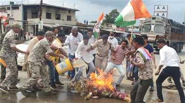 Jagdalpur Political News: भाजपा नेत्री के बयान से बिफरी कांग्रेस ने किया पुतला दहन
