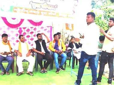भाजपा युवा मोर्चा ने भरवाया बेरोजगारी भत्ता फार्म