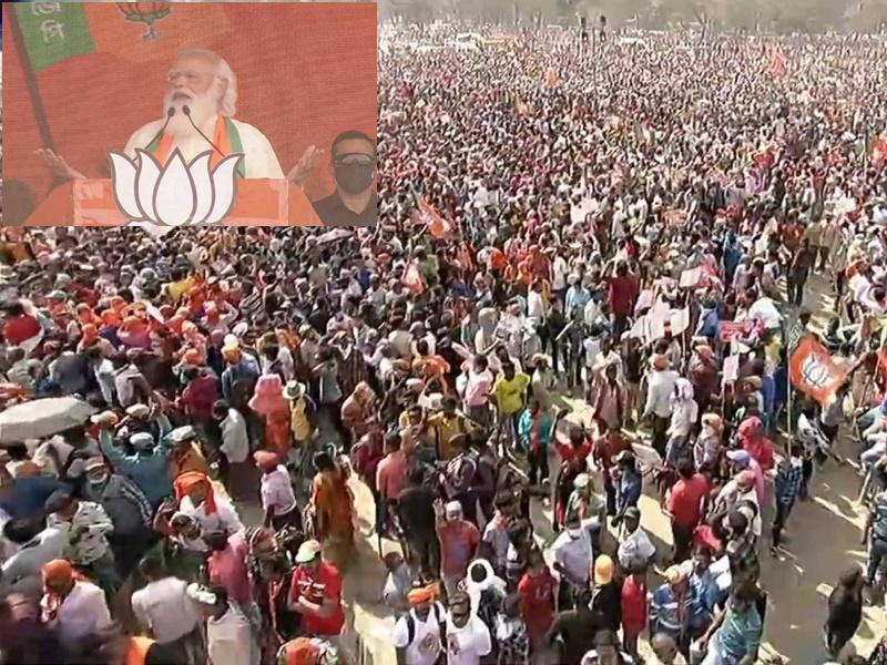 चुनावी सभा में गरजे पीएम मोदी, कहा- पूरा बंगाल अब एक स्वर में कह रहा है- आर नॉय औन्नॉय