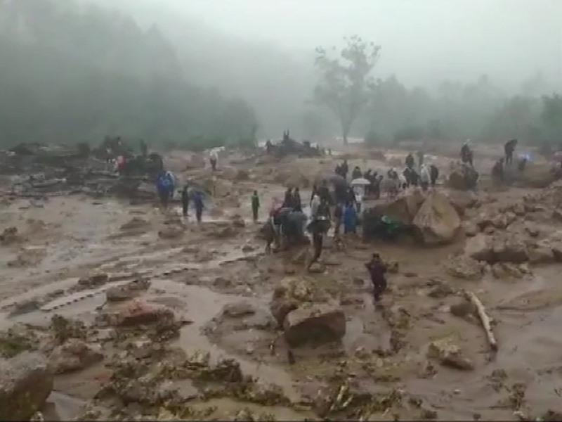 Kerala Landslide: बारी बारिश के कारण हुए भूस्खलन में 80 लोग दबे, 7 की मौत, बचाव कार्य जारी
