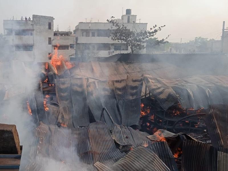 Timber Factory Fire: टिम्बर फैक्ट्री में लगी भीषण आग