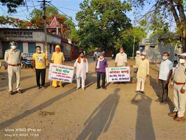 संक्रमण रोकने जिले के 65 गांवों में जनता व पुलिस की नाकाबंदी