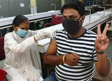 860 लोगों ने लगवाया टीका