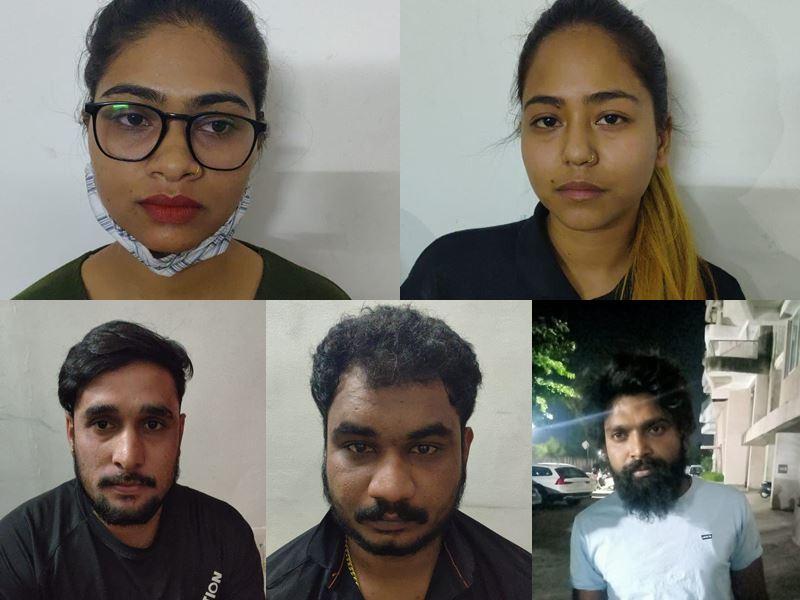 इंदौर में आइपीएल मैच पर सट्टा चला रहीं दो युवतियों समेत 5 गिरफ्तार
