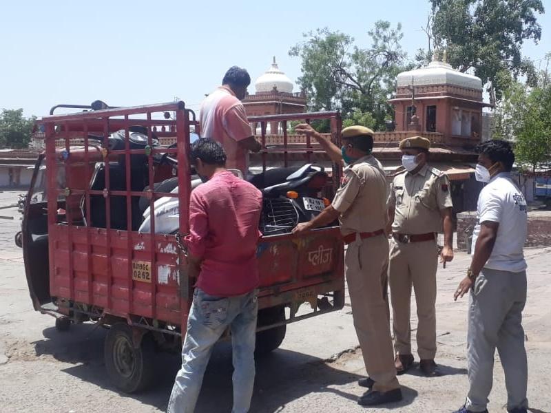राजस्थान में कोरोना कर्फ्यू से थमी जिंदगी, जोधपुर में डेढ़ सौ से अधिक वाहन सीज