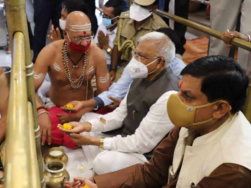 मध्य प्रदेश के राज्यपाल मंगूभाई पटेल ने किए भगवान महाकाल के दर्शन