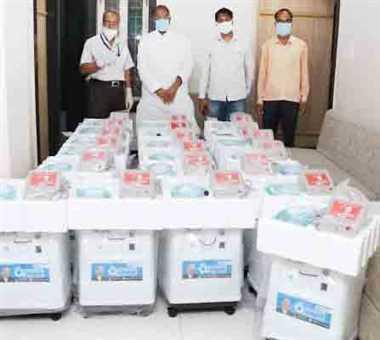 चेतन्य काश्यप फाउंडेशन ने मालवांचल में दिए 40 लाख के आक्सीजन कंसंट्रेटर