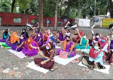 भारत मुक्ति मोर्चा, भारतीय विद्यार्थी मोर्चा व भारतीय बेरोजगार मोर्चा के समर्थन में किया प्रदर्शन