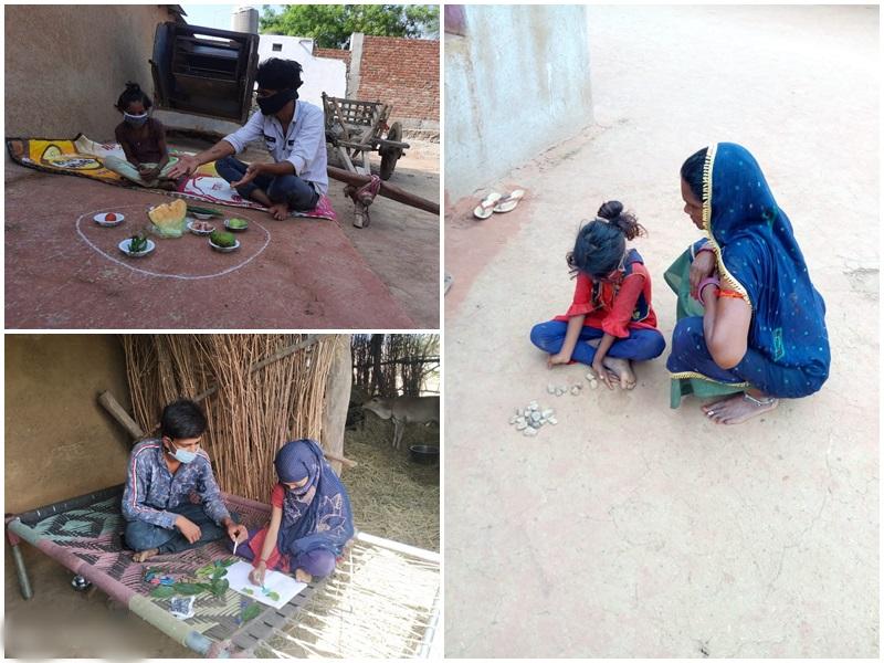 Madhya Pradesh News: श्योपुर जिले के गांवों में बालिकाओं को गिट्टी-मिट्टी के बर्तनों से सिखा रहे गणित