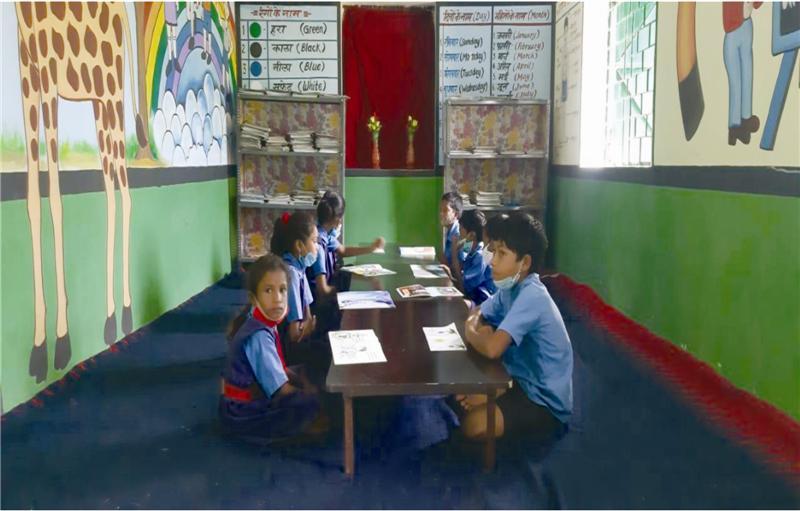 RAIGARH NEW ईजीएल करा रही बच्चों में भाषायी ज्ञान व आंकिक समझ विकसित