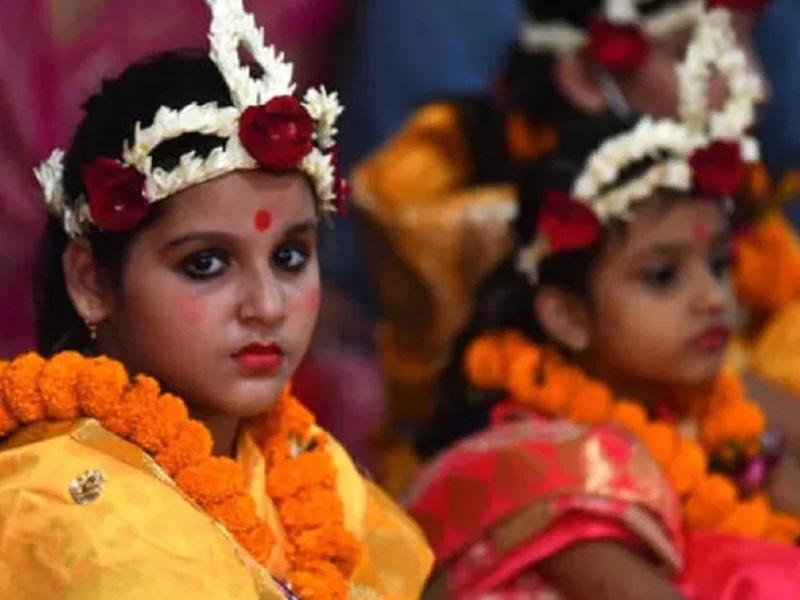 Navratri Kanya Pujan Muhurat Time 2021: जानिए अष्टमी और नवमी पर कन्या पूजन के मुहूर्त और महत्व