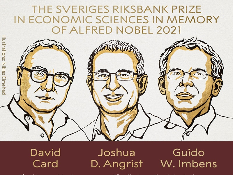 Nobel Prize 2021 : डेविड कार्ड, जोशुआ एंगरिस्ट और गुइडो इम्बेन्स को मिला अर्थशास्त्र का नोबल पुरस्कार
