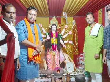 Religious News In Dhamtari: मुजगहन में जसगीत झांकी के माध्यम से बताई मां जगदंबे की महिमा