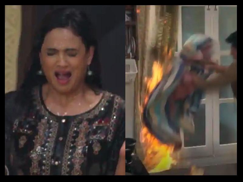 'जब वी मेट' का सीन रीक्रिएट करते हुए जल गए Shweta Tiwari के हाथ
