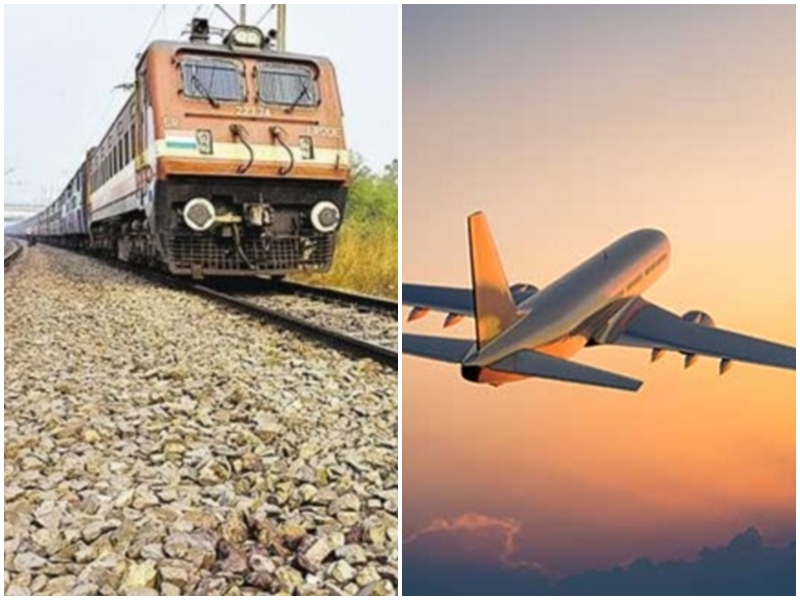 Corona Impect On Travel: कोरोना के चलते नहीं मिल रहे यात्री आठ ट्रेनें रद, हवाई यात्रा पर भी असर
