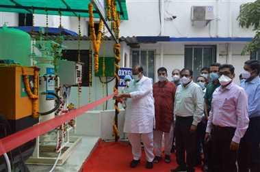 रतलाम : रेलवे चिकित्सालय में आक्सीजन प्लांट का शुभारंभ