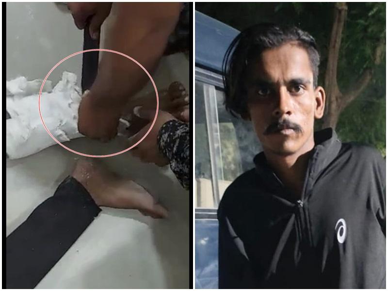 Indore Crime News: वीडियो देखिये, अपाहिज बनकर मादक पदार्थों की तस्करी करता था गुंडा, पट्टा फाड़कर बरामद की ब्राउन शुगर