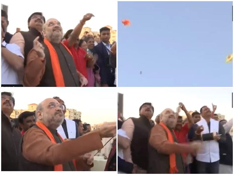 जब Amit Shah ने उड़ाई पतंग, चेहरे पर आए ऐसे भाव, देखें यह मजेदार वीडियो