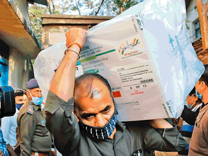 Covid Vaccine in Indore: शुभ आगमन... इंदौर को मिला 'जिंदगी' का पहला डोज