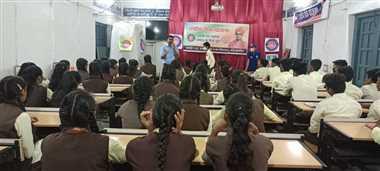 टीबी क्षय रोग पर हुई कार्यशाला में छात्रों को बताए बचाव के उपाय
