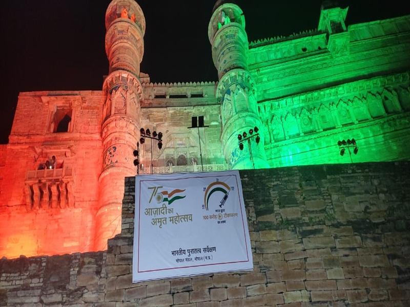 Gwalior Fort News: ग्वालियर किला को तीन रंगों देख,शहरवासियों के थमे कदम