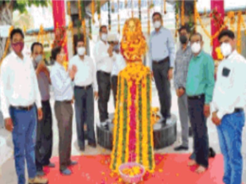 Ambedkar Jayanti: अजाक्स कार्यालय पर लगा काेराेना वैक्सीनेशन शिविर
